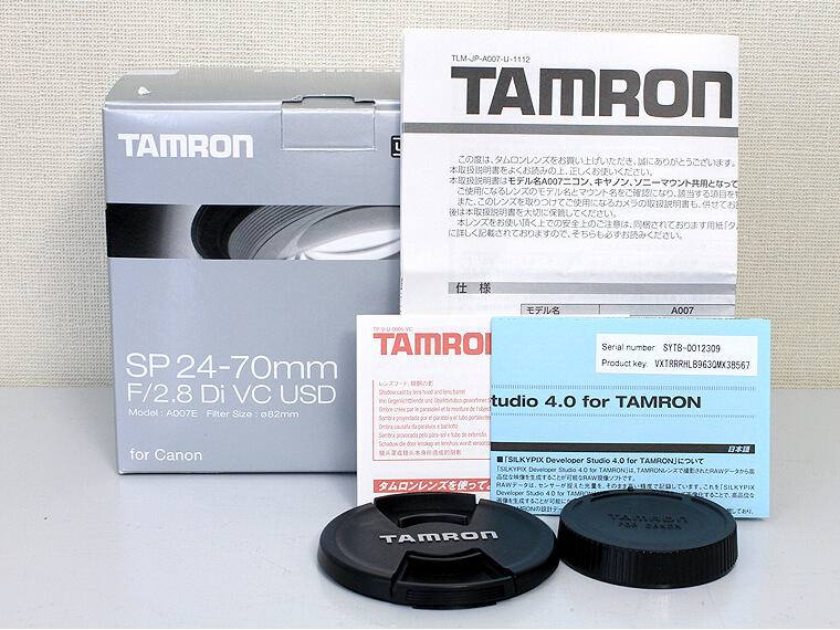 TAMRON タムロン SP 24-70mm F2.8 Di VC USD レンズ for Canon5枚目