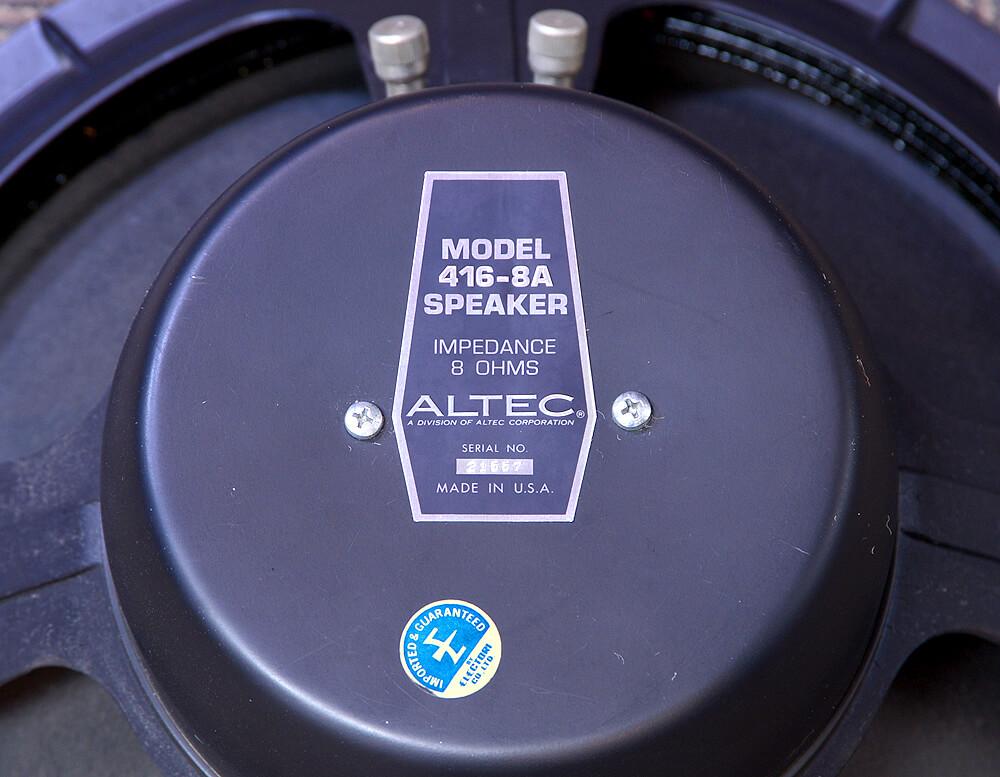 ALTEC 416-8A 8Ω 38cmコーン型ウーファー5枚目