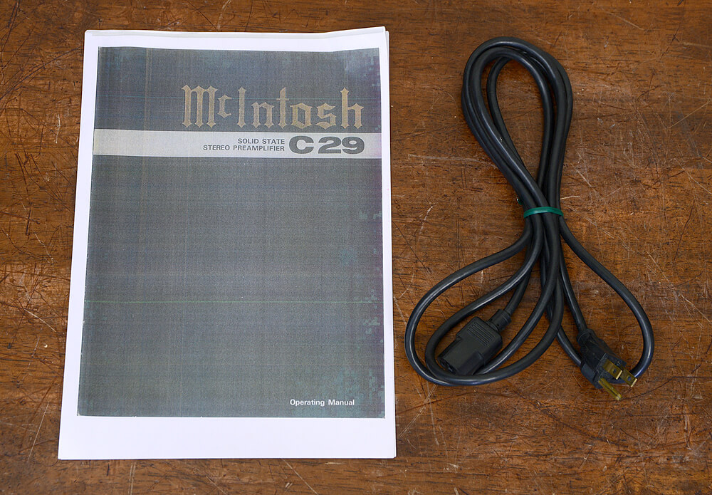 McIntosh C29 コントロールアンプ5枚目