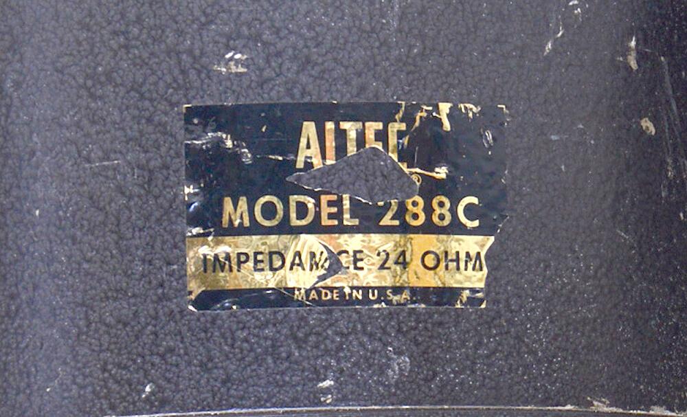 ALTEC 288C 16Ω ドライバーユニット4枚目
