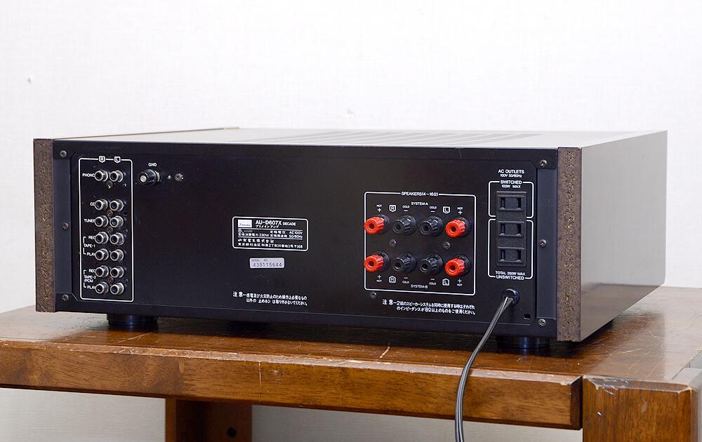 SANSUI AU-D607X DECADE プリメインアンプ2枚目