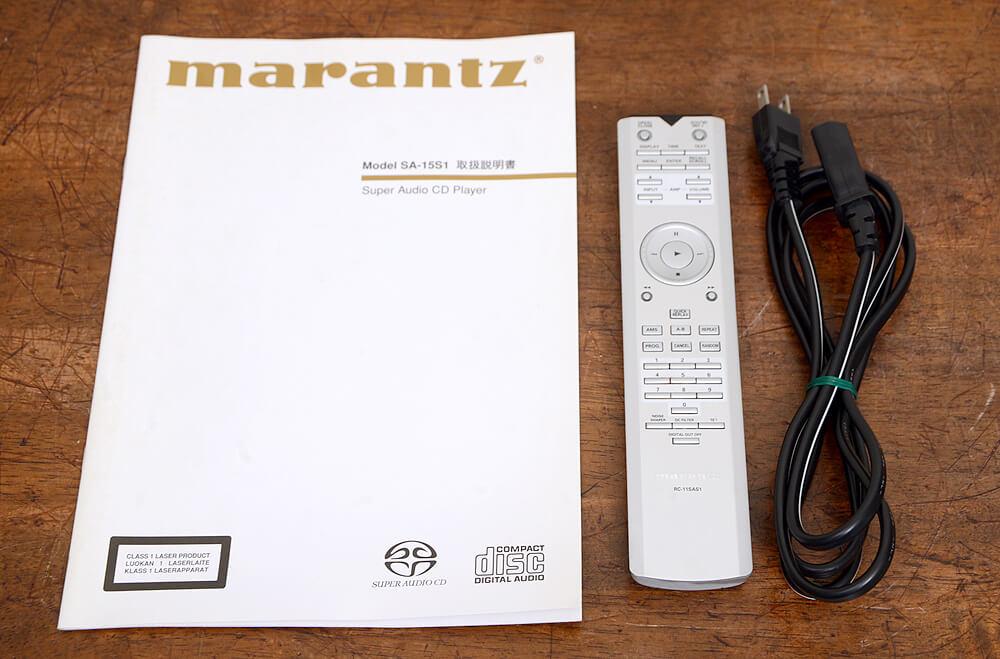 Marantz SA-15S1 SACDプレーヤー4枚目