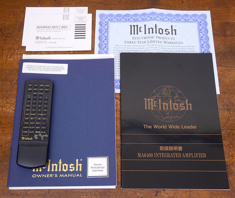 McIntosh MA6400 プリメインアンプ6枚目