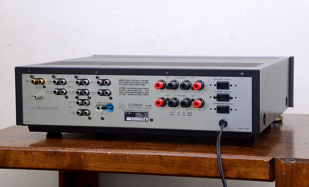 LUXMAN L-430 プリメインアンプ3枚目